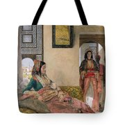 Life In The Harem - Cairo Tote Bag by John Frederick Lewis