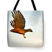 Majestic Red Shoulder Hawk Tote Bag