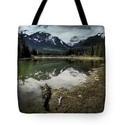 Muleshoe Pond Reflection Banff Tote Bag