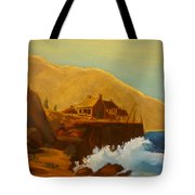 Gathering Of Flowers By The Fishing Cabin Tote Bag
