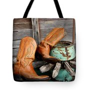 Old Cowboy Boots Tote Bag