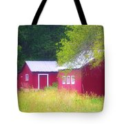 Peaceful Country Barn And Meadow Tote Bag