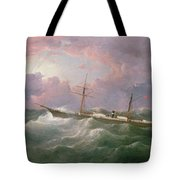 Portrait Of The Lsis A Steam And Sail Ship Tote Bag
