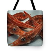 Red Cherry Shrimp In The Market Tote Bag