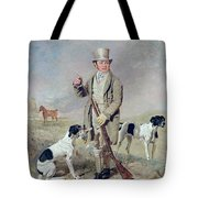 Richard Prince With Damon - The Late Colonel Mellish's Pointer Tote Bag by Benjamin Marshall
