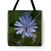 Spring Flower And Hoverfly Tote Bag