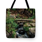 Stream In Tall Pines Tote Bag