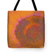 Sunflower In Orange And Pink Tote Bag