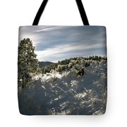 Sunrise On Frosted Hill Tote Bag