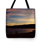 Sunset On Eagle Nest Lake Tote Bag