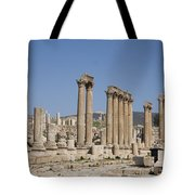 The Oval Plaza In The Ruins Tote Bag