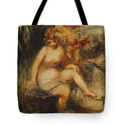 Venus And Love Allegory Tote Bag