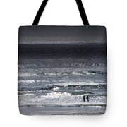 Wading In The Water Tote Bag
