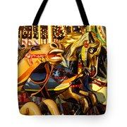 Wild Carrousel Horses  Tote Bag