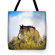 Wild Horse In The Sage Tote Bag