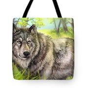 Wolf Summer Tote Bag