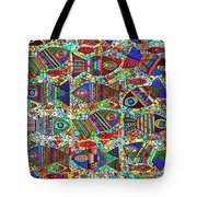 X 18 Talavera Fish Blessings Tote Bag