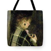 Young Woman With A Small Veil Tote Bag