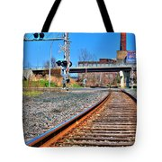 0001 Train Tracks Tote Bag