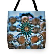 0001 Turquoise And Pearls Tote Bag
