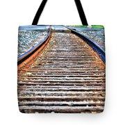 0002 Train Tracks Tote Bag
