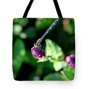 0003 Dragonfly Yoga On A Salvia Burgundy Candle Tote Bag