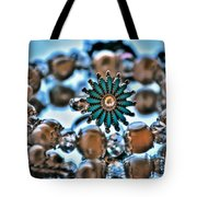 0003 Turquoise And Pearls Tote Bag