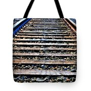 0004 Train Tracks  Tote Bag