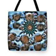 0004 Turquoise And Pearls Tote Bag