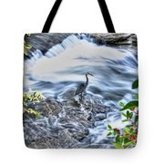 0005 Blue Heron At Glen Falls Williamsville Ny Tote Bag