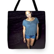 001 A Sunset With Eyes That Smile Soothing Sounds Of Waves For Miles Portrait Series Tote Bag