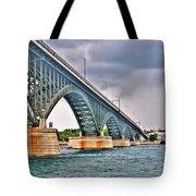 001 Stormy Skies Peace Bridge Series Tote Bag