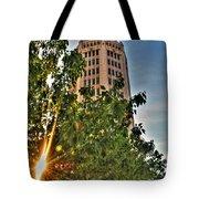 002 Electric Tower At Sunrise  Tote Bag