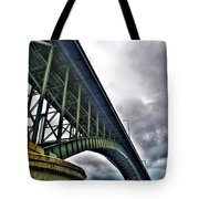 002 Stormy Skies Peace Bridge Series Tote Bag
