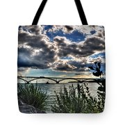 003 Peace Bridge Series II Beautiful Skies Tote Bag