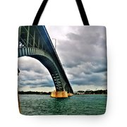 003 Stormy Skies Peace Bridge Series Tote Bag
