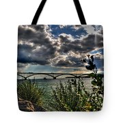 004 Peace Bridge Series II Beautiful Skies Tote Bag