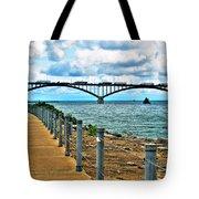 004 Stormy Skies Peace Bridge Series Tote Bag