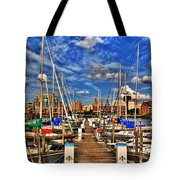 005 On A Summers Day  Erie Basin Marina Summer Series Tote Bag