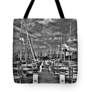 005bw On A Summers Day  Erie Basin Marina Summer Series Tote Bag
