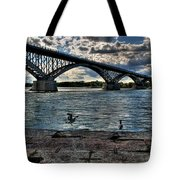 006 Peace Bridge Series II Beautiful Skies Tote Bag
