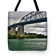 006 Stormy Skies Peace Bridge Series Tote Bag
