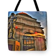 006 The Hiker At Sunrise Tote Bag