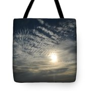 006 When Feeling Down  Pick Your Head Up To The Skies Series Tote Bag