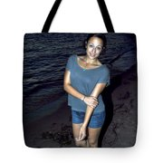 007 A Sunset With Eyes That Smile Soothing Sounds Of Waves For Miles Portrait Series Tote Bag
