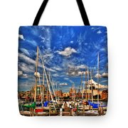 007 On A Summers Day  Erie Basin Marina Summer Series Tote Bag