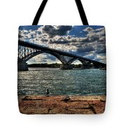 007 Peace Bridge Series II Beautiful Skies Tote Bag