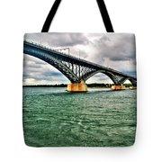007 Stormy Skies Peace Bridge Series Tote Bag