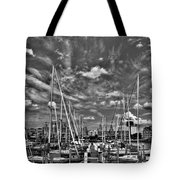 007bw On A Summers Day  Erie Basin Marina Summer Series Tote Bag
