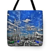 007sc On A Summers Day  Erie Basin Marina Summer Series Tote Bag